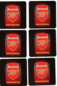 ARSENAL F.C. Pack of Official Crested Beer Mats / Coasters FREE POST UK GUNNERS