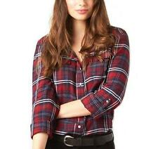 Women's Regular Check Long Sleeve Sleeve Button Down Shirt Tops & Blouses