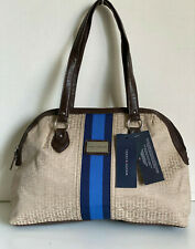NEW! TOMMY HILFIGER KHAKI TAN BROWN DOME BOWLER SATCHEL TOTE PURSE BAG $79 SALE