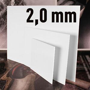 Polystyrol Platten PS Platte weiss, verschiedene Größen, in der   Stärke: 2,0 mm