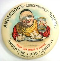 Rare Mirror - Anderson's Concentrated Soups, makes 9 plates, Camden, N.J. U.S.A.