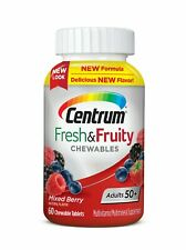 Centrum Adults 50+ Fresh & Fruity Chewables Multivitamin  (60 ct) Mixed Berry
