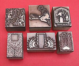 """COLLECTION OF """"ART NOUVEAU & DECO"""" Printing Blocks. (SOLD AS ONE LOT)"""