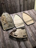 Vintage  Metal Steam Iron Holder Stand Rest Screen Lot Of 4 Needs Restoration