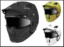 Mt CASCO STREET FIGHTER Motocicleta Moto Casco liso de Deportes de doble