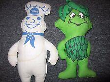 Jolly Green Giant and Pillsbury Dough Boy Stuffed Plush Dolls