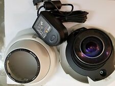 axis 212 ptz fish eye network camera 0257-004 with ps-h power adapter and stand
