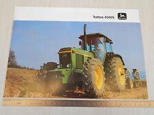 DEPLIANT BROCHURE ORIGINALE TRATTORE TRACTOR JOHN DEERE 4040S 4040 S 1982