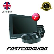 """REVERSE REAR VIEW HEAVY DUTY CAMERA 7"""" MONITOR PACKAGE INC EXTENSION TRUCK LORRY"""