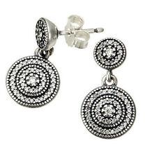 Round PANDORA Sterling Silver Fine Earrings