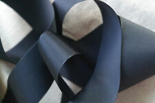 "10 yard 1 1/2"" wide vintage roll grosgrain navy blue ribbon hat dress rayon 109"