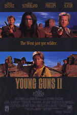 YOUNG GUNS 2 Movie POSTER 11x17 Emilio Estevez Kiefer Sutherland Lou Diamond