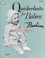 Quickerknits for Babies, Woollies Knitting Patterns, Beehive Book No.76 on CD