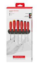 PB Swiss Tools PB 8244.CBB Screwdriver Set Slotted/Phillips Wall Rack Swiss