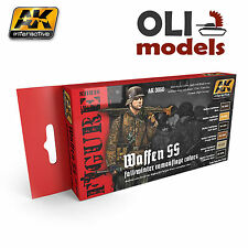 Figure Series Waffen SS Fall/Winter UNIFORM COLORS Set- AK Interactive 3050