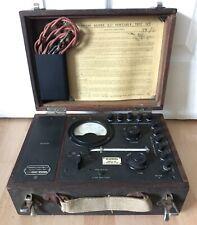 Antique Weston Model S 77 Portable Test Kit Engine Cylinder Film Prop