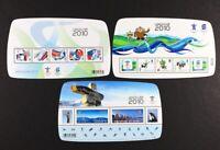 CANADA 2010 #2299f, 2305f, 2366c, Vancouver Olympics Overprints 3 S/S Mint NH