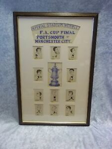 F A Cup Final Portsmouth V Manchester C '34 Caricatures