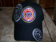 U.S. Coast Guard Ball Cap Hat in Black New Nwt HH-6