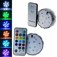 10 LED Submersible Waterproof Birthday Wedding Party Light with Remote Contral