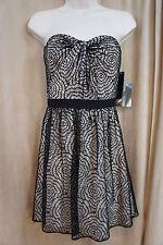 Aqua Dresses Dress Sz 8 Black Beige Lace Strapless Evening Cocktail Dress