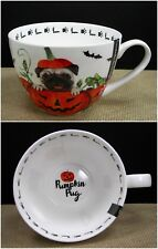 Portobello by Design Pumpkin Pug Dog Halloween Mug Cup Bone China