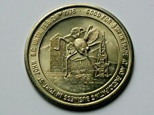 Fort St John BC CANADA 1976 Trade DOLLAR Token with Oil Derrick Totem & Mosquito