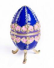 Faberge Egg Trinket Box Handmade by Keren Kopal Austrian Crystals