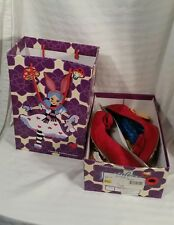 Irregular Choice Shoes Red Slip Roses Sz US 10 EUR 41 red suede in box