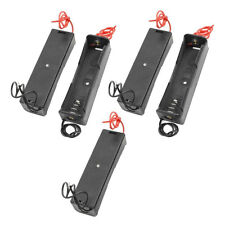 5 Pcs Plastic Battery Holder Storage Box Case For 1 x 18650 Rechargeable Battery