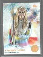 SUPER RARE 2014 TOPPS OLYMPIC LINDSEY VONN GOLD RAINBOW CARD #88 ~ ALPINE SKIING