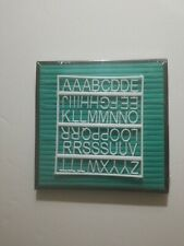 Felt Letter Board Set with Pre-Cut Letters and Plastic Case (Black /Green, 8x8)