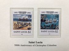St Lucia 1992 Christopher Columbus Stamps, MNH