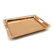 Dollhouse Kitchen Cookware Tray Salver 1:6 Miniature Accessories Bronze