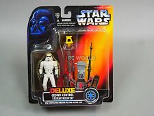 Vintage Star Wars DELUXE CROWD CONTROL STORM TROOPER Action Figure  #Z4-2