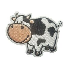 Cow Iron On Patch Sew on transfer - Farm animal Moo Cow iron on patch