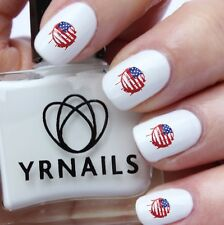 Nail WRAPS Nail Art Water Transfers Decals - American Grunge Flag - S636