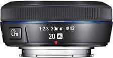 SAMSUNG 20mm F2.8 ifunction compatto Lente per Samsung NX fotocamera Nero