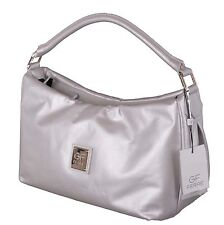 Gian Franco Ferre Damen Handtasche Tasche Leder Silber X190
