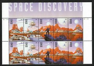 L9 Scott #3238-42 32¢ SPACE DISCOVERY TOP PB OF 10. Free shipping