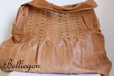 PINK CORPORATION Tan Brown LEATHER Hand BAG Tote