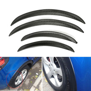 4PCS Carbon Fiber Look Car Body Fender Flares Wheel LIP Mudguard Truck 25cm×33cm