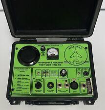 Airborne Electronics Headset & Intercom Tester Aviation Test Unit Aircraft New!