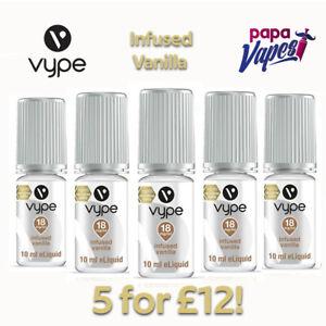 VYPE E-LIQUID 5 for £12!   INFUSED VANILLA NS NIC SALT VAPE JUICE   18MG   10ML
