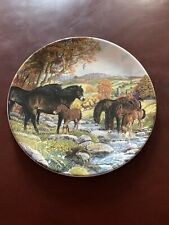 Exmoor Ponies Davenport Plate 1991 Limited Edition Collectors Plate