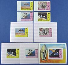 Space Raumfahrt 1981 Ivory Coast 680-683 U + Block 17 U + Deluxe Blocks MNH/1094