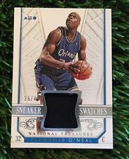 2014-15 National Treasures Shaquille O'Neal Sneaker Swatches Shoe Patch #D /49