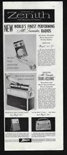 1958 Vintage Impresión Anuncio 15.2ms Zenith Radio Portátil Imagen Trans-Oceanic