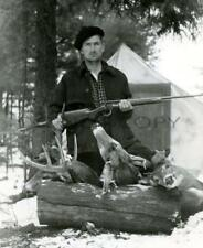 ANTIQUE REPRO 8X10 WHITETAIL DEER HUNTING PHOTO WINCHESTER MODEL 71 348