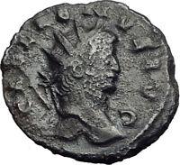 Gallienus Valerian I son 265AD Authentic Rare Ancient  Roman Coin  Mars i65121